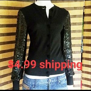 Tory Burch cardigan sequin arms